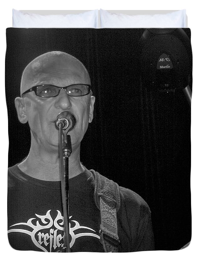 Kim Mitchell Band Rock And Roll Music Concerts Star Lead Singer Duvet Cover featuring the photograph Kim Mitchell by Andrea Lawrence