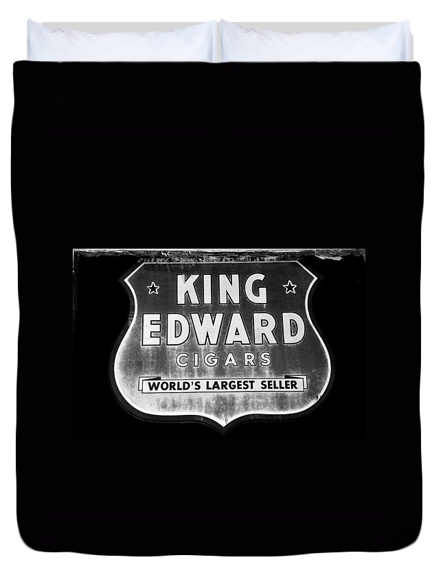 Fine Art Photography Duvet Cover featuring the photograph King Edward Cigars by David Lee Thompson