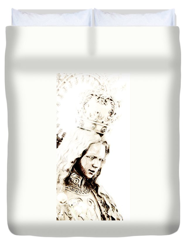 Prince Of Peace Duvet Cover featuring the photograph King Of Kings And Lord Of Lords by Linda Shafer