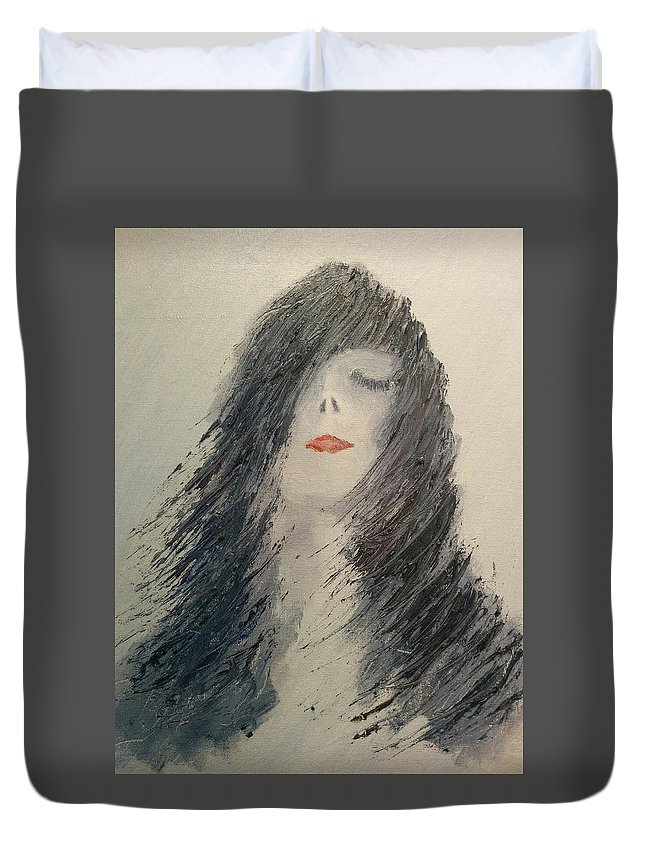 King Of Pop Duvet Cover featuring the painting King Of Pop by Michael Tokarski