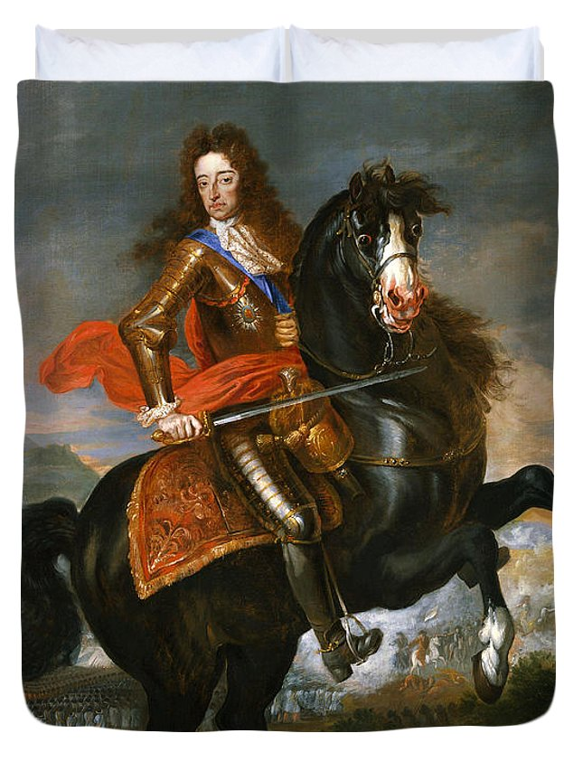 Painting Duvet Cover featuring the painting King William I I I by Mountain Dreams