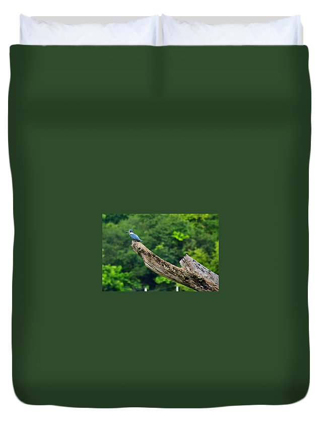 Kingfisher Duvet Cover featuring the photograph Kingfisher by Bibi Rojas