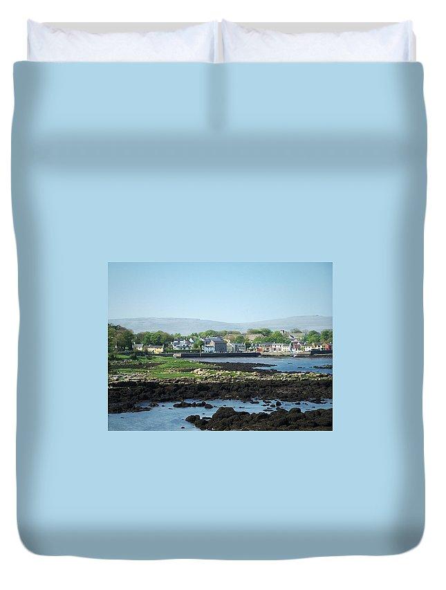 Irish Duvet Cover featuring the photograph Kinvara Seaside Village Galway Ireland by Teresa Mucha