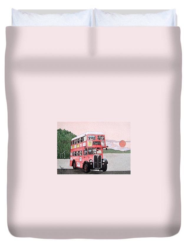 Bus Duvet Cover featuring the painting Kirkland Bus by Gale Cochran-Smith