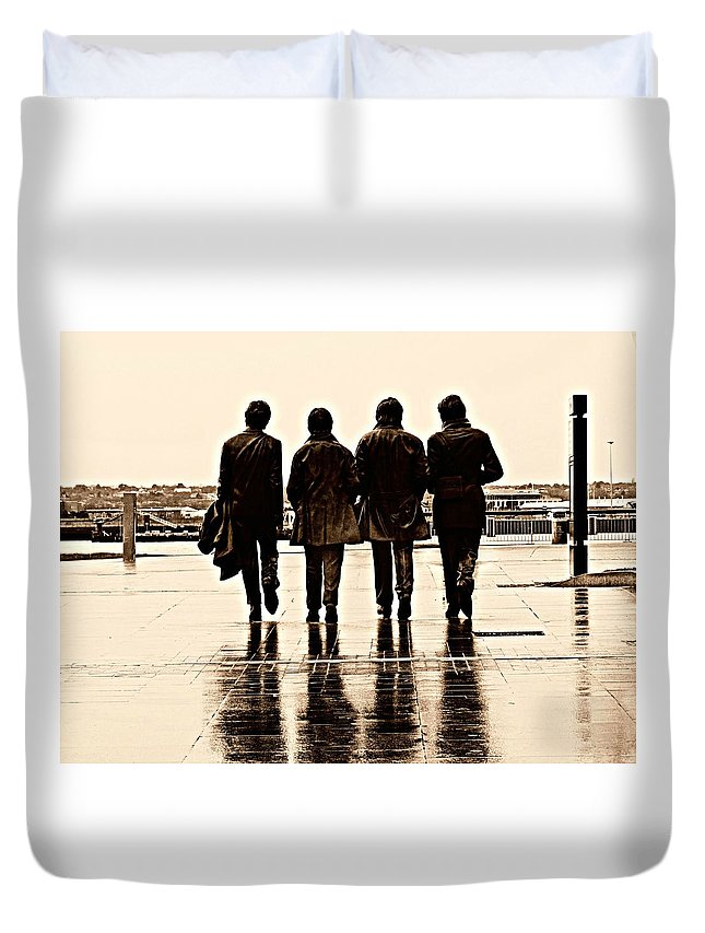 Liverpool Duvet Cover featuring the photograph Kismet by Keri Butcher