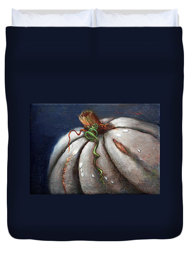 Still Life Duvet Cover featuring the painting Kissed By The Moon by Portraits By NC