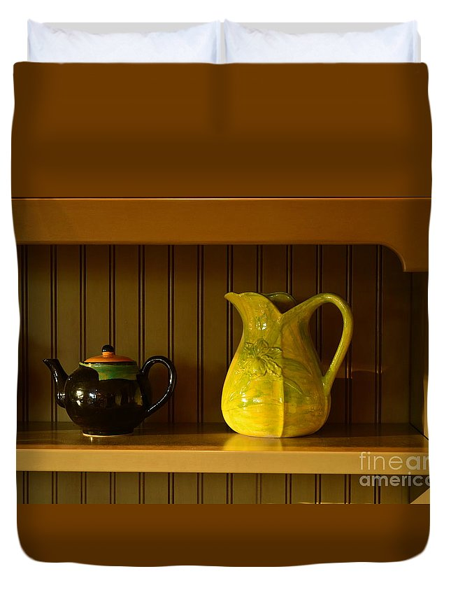 Kitchen Duvet Cover featuring the photograph Kitchen Cupboard by Gale Cochran-Smith