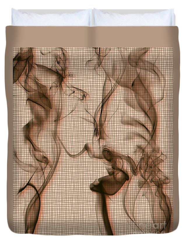 Clay Duvet Cover featuring the digital art Kitchen Problems by Clayton Bruster