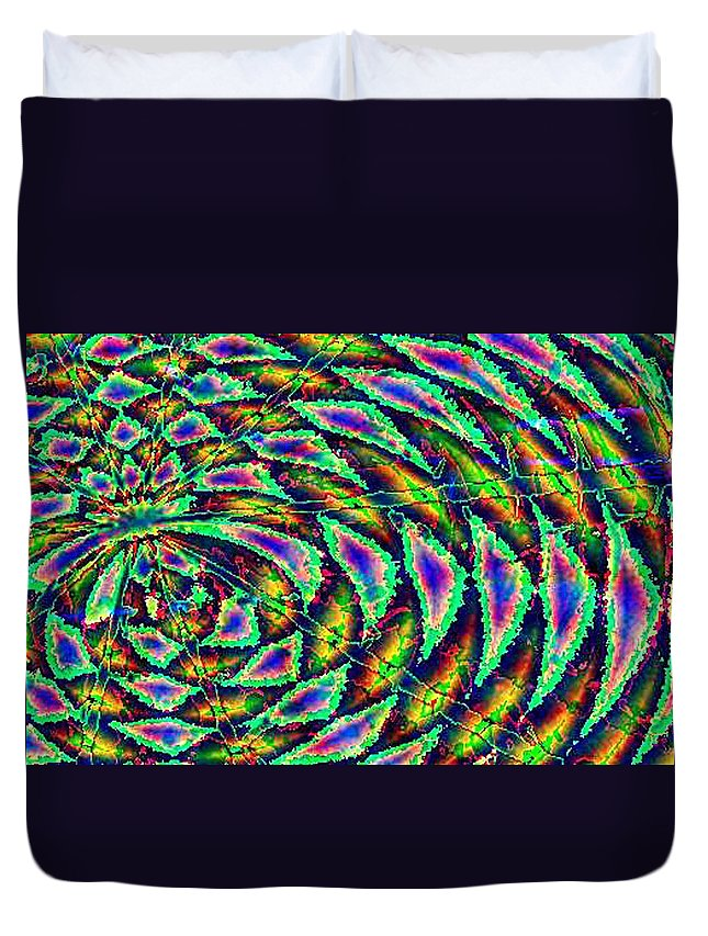 Computer Art Duvet Cover featuring the digital art Kiwi by Dave Martsolf
