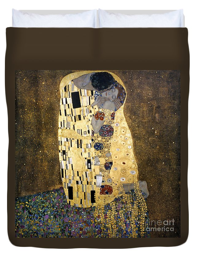 1907 Duvet Cover featuring the photograph Klimt: The Kiss, 1907-08 by Granger
