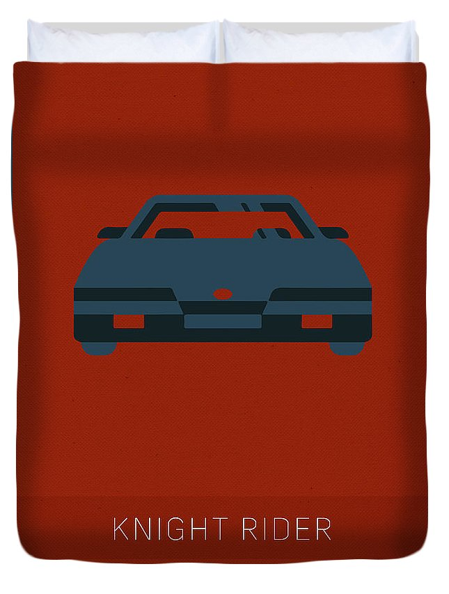 Knight Rider Duvet Cover featuring the mixed media Knight Rider My Favorite Tv Shows Series 020 by Design Turnpike