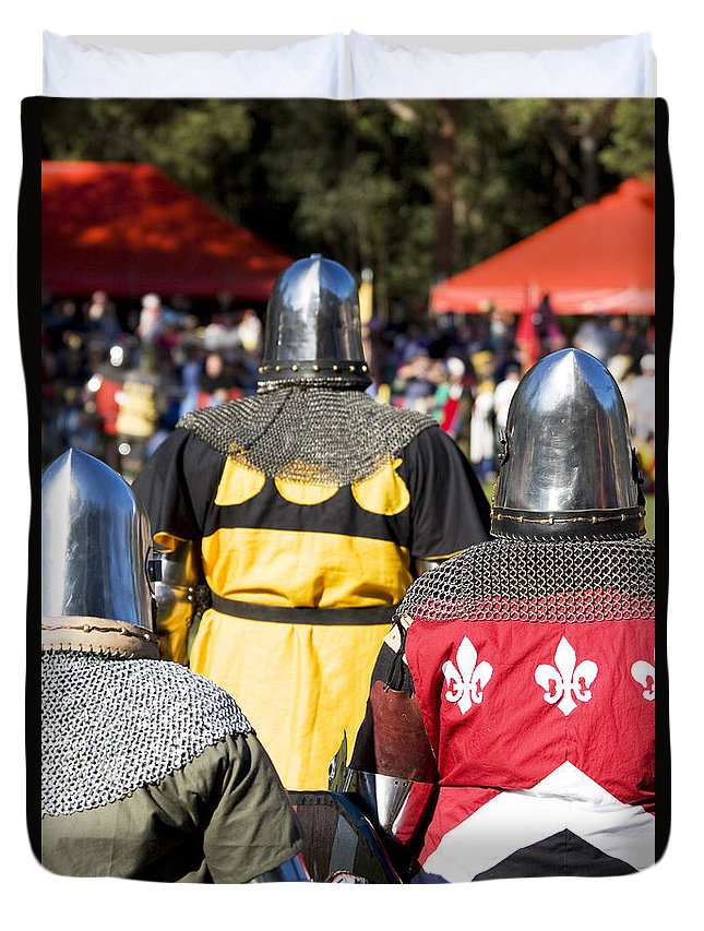 Ages Duvet Cover featuring the photograph Knight Squad by Jorgo Photography - Wall Art Gallery