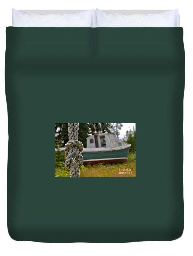 Boat Duvet Cover featuring the photograph Knot by Rick Monyahan