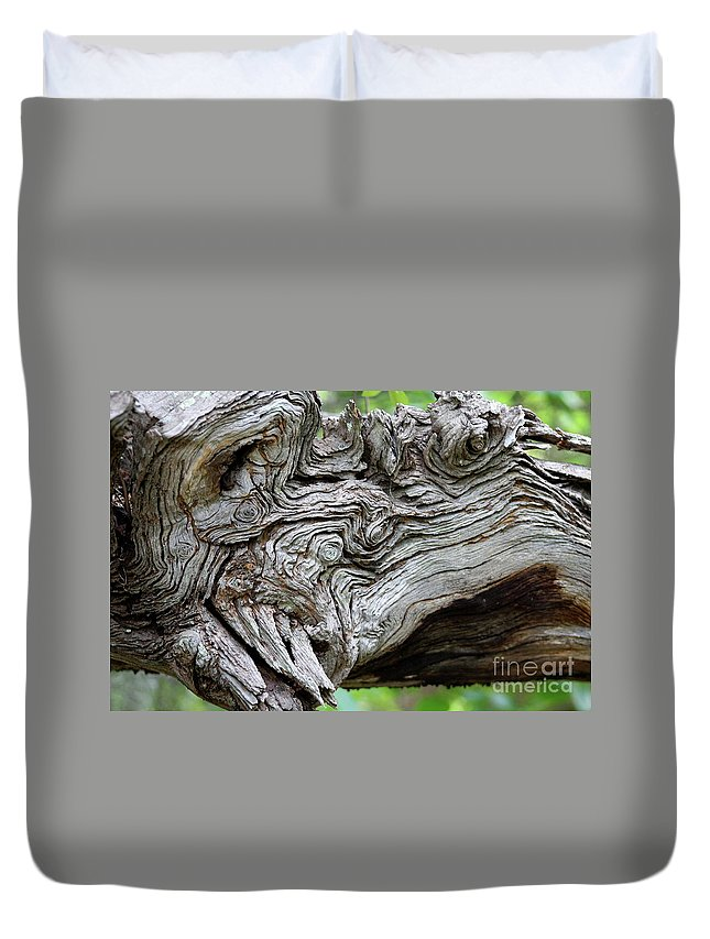Knotty Tree Duvet Cover featuring the photograph Knotty Tree by Christiane Schulze Art And Photography
