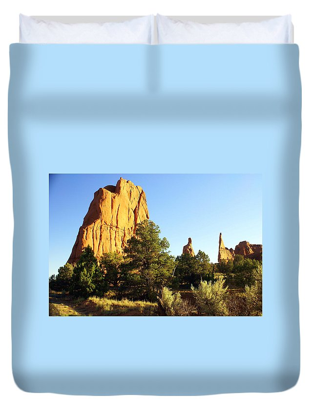 Utah Duvet Cover featuring the photograph Kodachrome Basin I by Marty Koch
