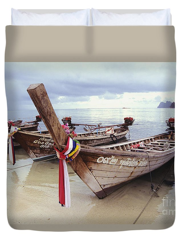 Beautiful Duvet Cover featuring the photograph Koh Phi Phi by Bill Brennan - Printscapes