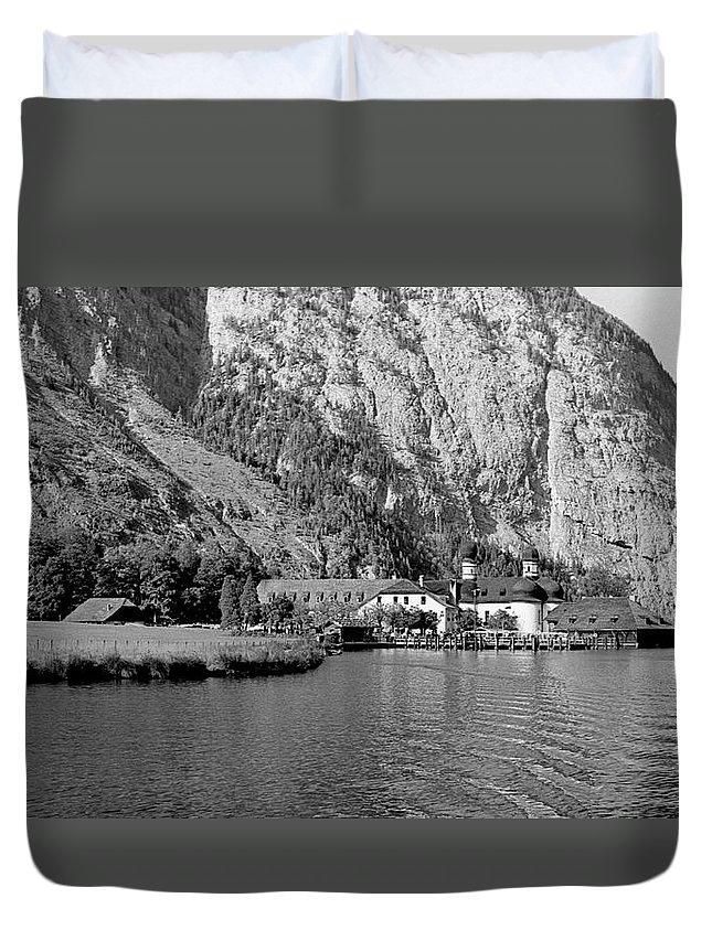 Bavaria Duvet Cover featuring the photograph Konigssee Lake And Saint Bartoloma 2 by Lee Santa