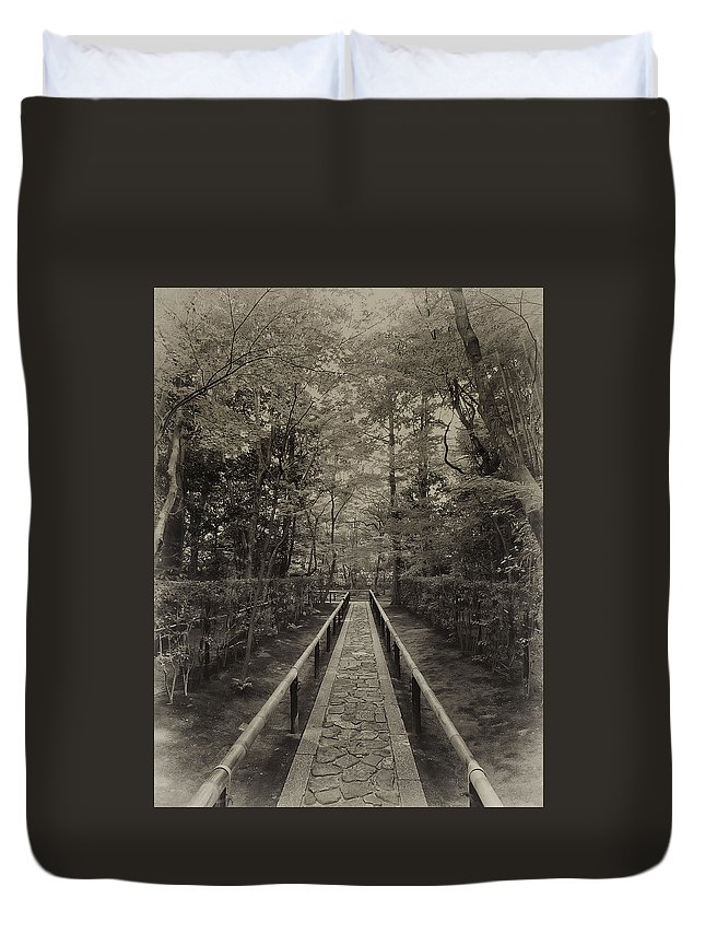 Samurai Duvet Cover featuring the photograph Koto-in Zen Temple Forest Path - Kyoto Japan by Daniel Hagerman