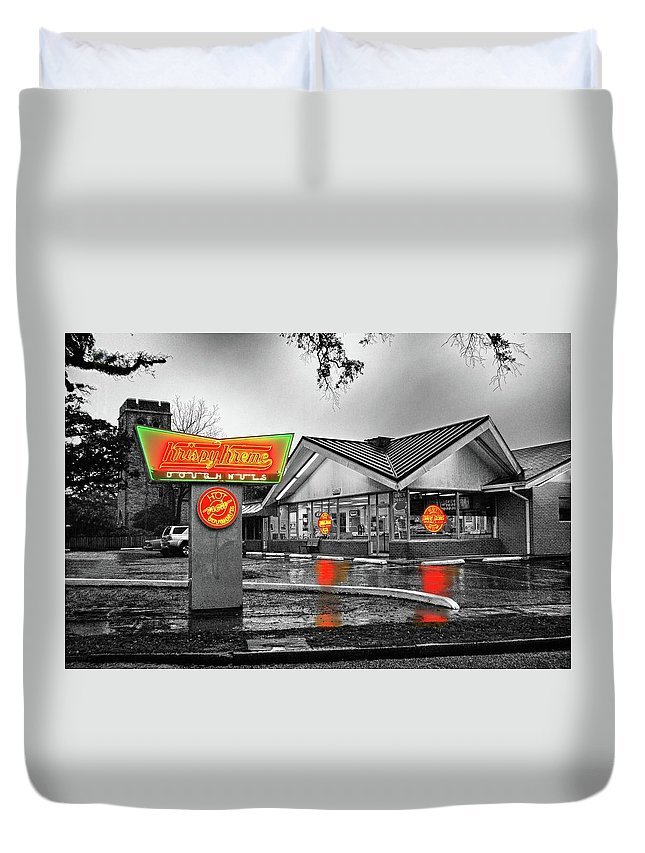 Mobile Duvet Cover featuring the photograph Krispy Kreme by Michael Thomas