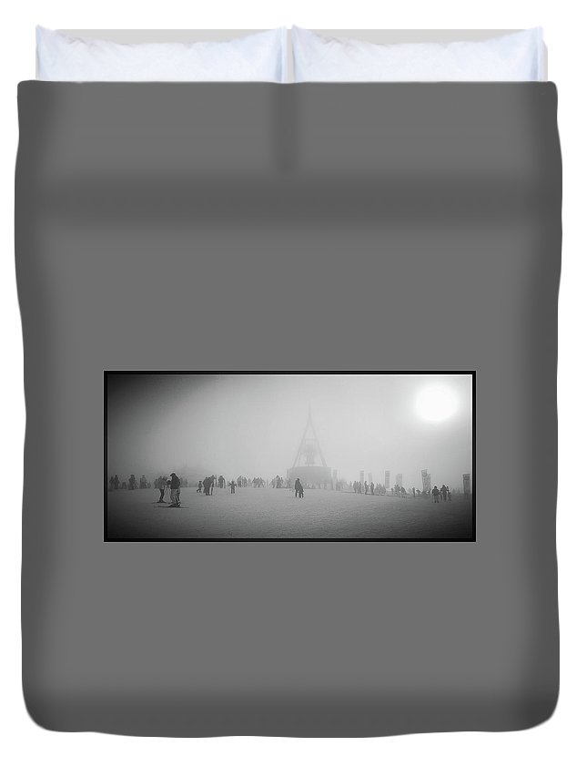 Kronplatz Altoadige Sci Grey Nature Snow Duvet Cover featuring the photograph Kronplatz by Alena Zelenkova