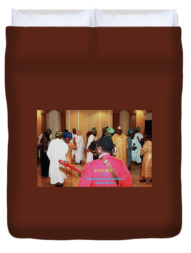 Rocking The Partee Duvet Cover featuring the photograph Kunle Kuti Live by Kehinde Thompson
