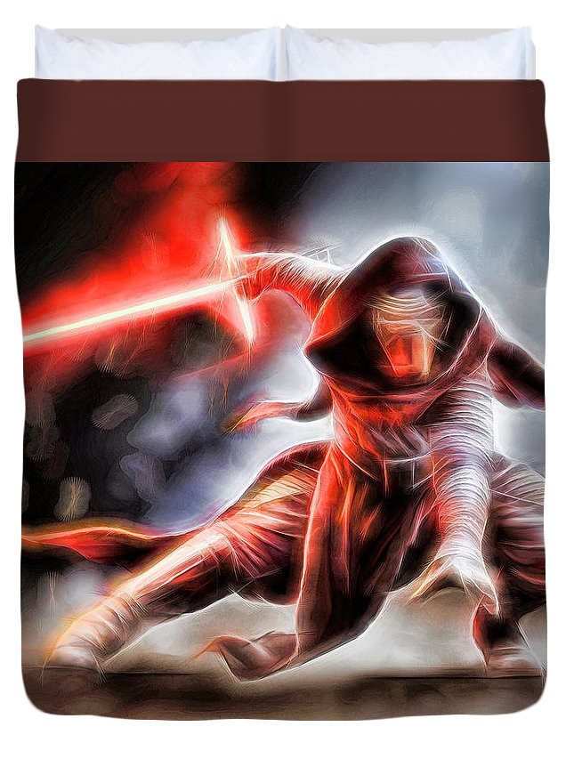 Starwars Duvet Cover featuring the digital art Kylo Ren I Will Fulfill Our Destiny by Scott Campbell