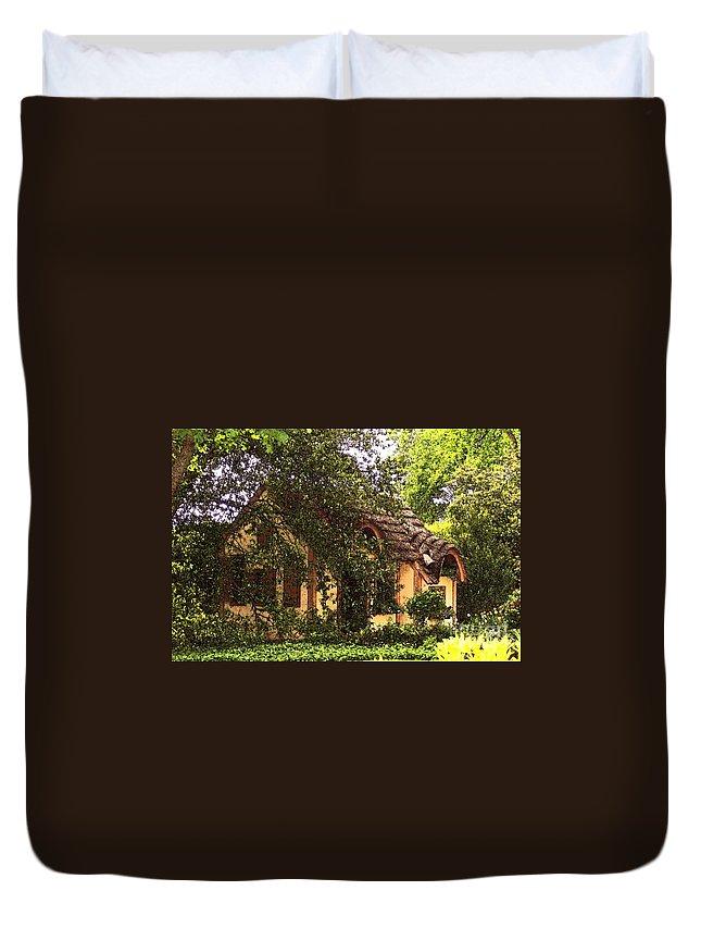 Cottage Duvet Cover featuring the photograph La Maison by Debbi Granruth