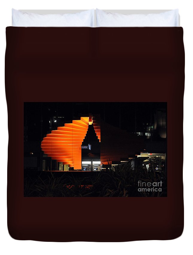 Clay Duvet Cover featuring the photograph L.a. Nights by Clayton Bruster