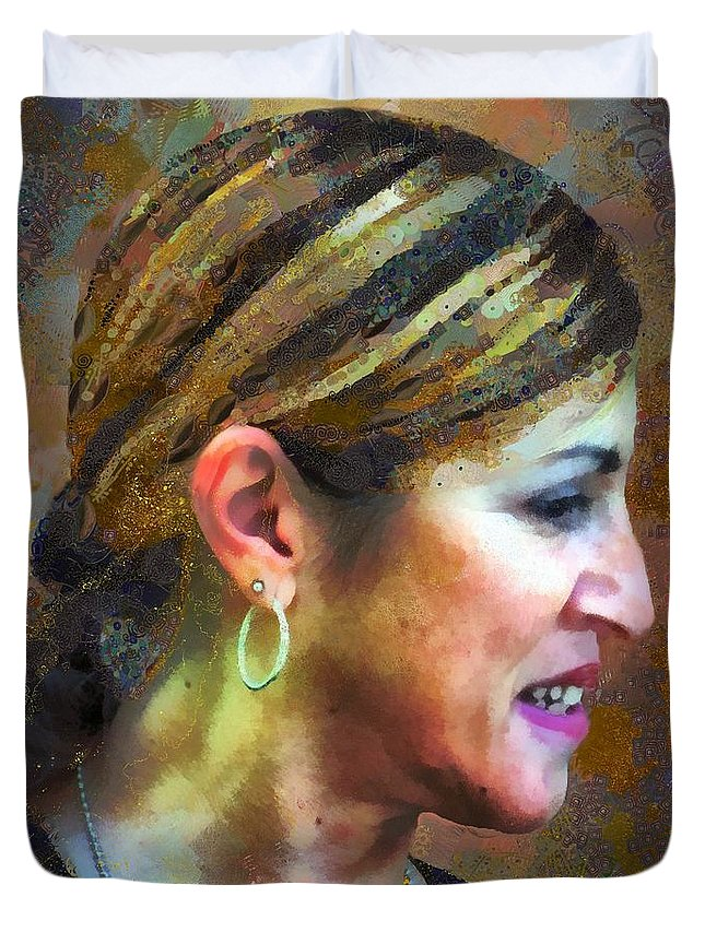 Colorful Duvet Cover featuring the painting La Principessa by RC DeWinter