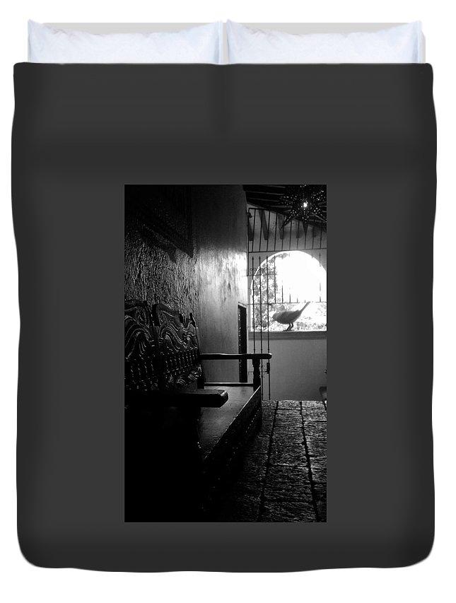B&w Duvet Cover featuring the photograph La Roca by Elyse Fehrenbach