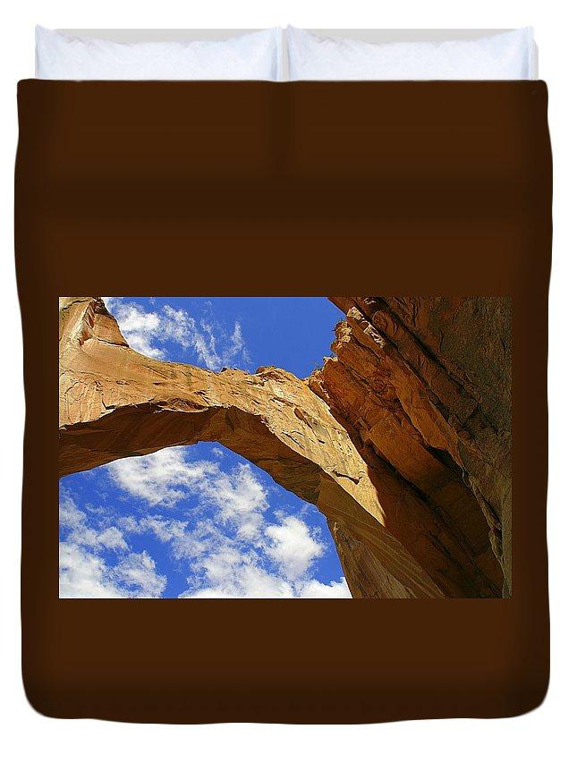 Landscape Duvet Cover featuring the photograph La Ventana Natural Arch by Alexandra Till