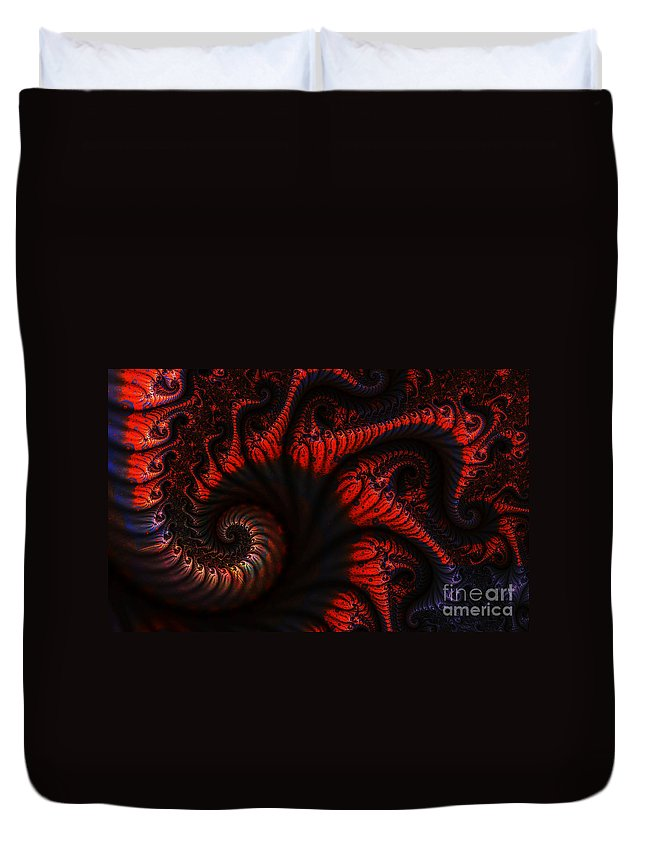Clay Duvet Cover featuring the digital art Labyrinth by Clayton Bruster