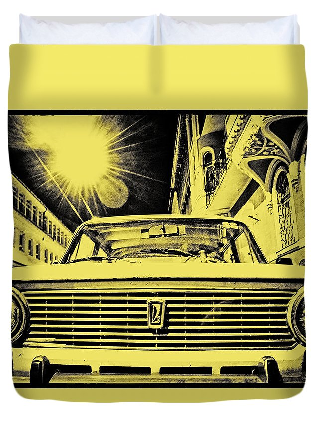 Lada 2101 Duvet Cover featuring the photograph Lada 2101 by Zoltan Komlosi