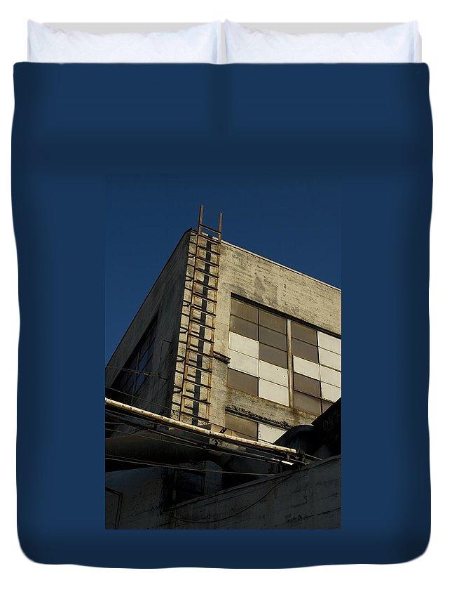 Ladder Duvet Cover featuring the photograph Ladder by Sara Stevenson