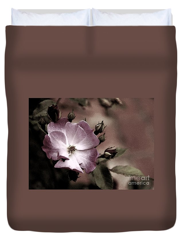 Rose Duvet Cover featuring the photograph Ladies In Waiting by Linda Shafer
