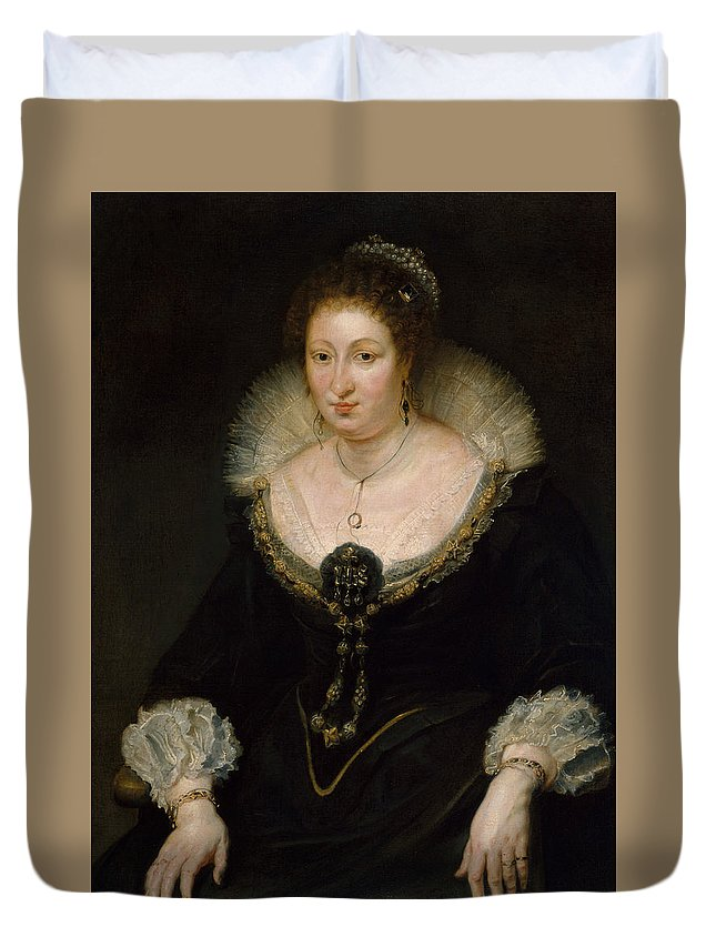 Peter Paul Rubens Duvet Cover featuring the painting Lady Alethea Talbot, Countess Of Arundel by Peter Paul Rubens