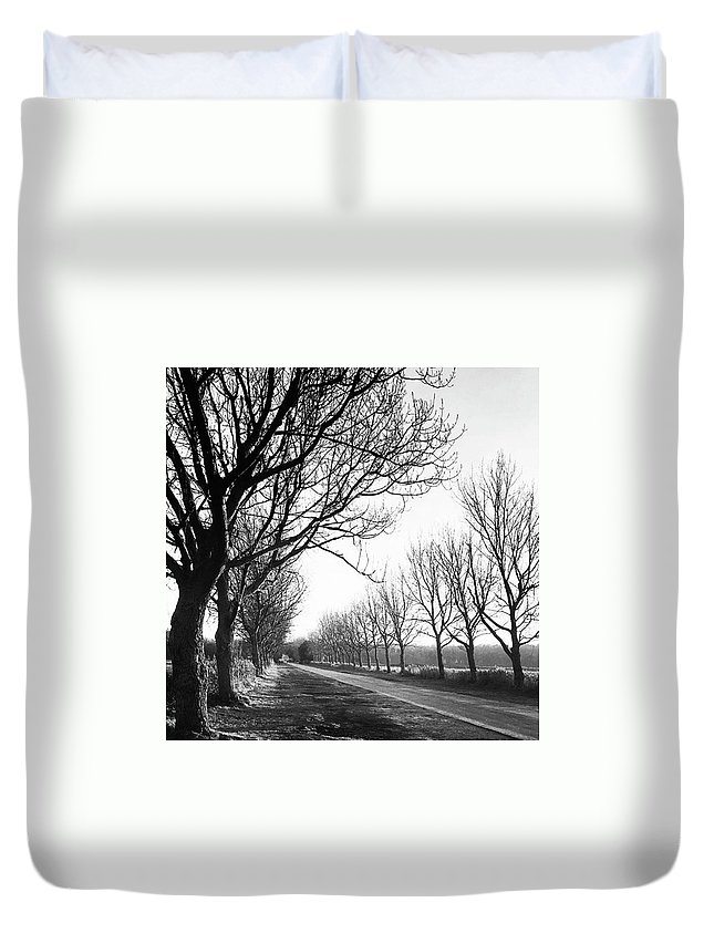 Natureonly Duvet Cover featuring the photograph Lady Anne's Drive, Holkham by John Edwards
