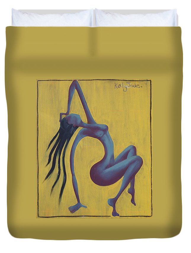 Egypt Duvet Cover featuring the painting Lady Egypt by Kelly Jade King
