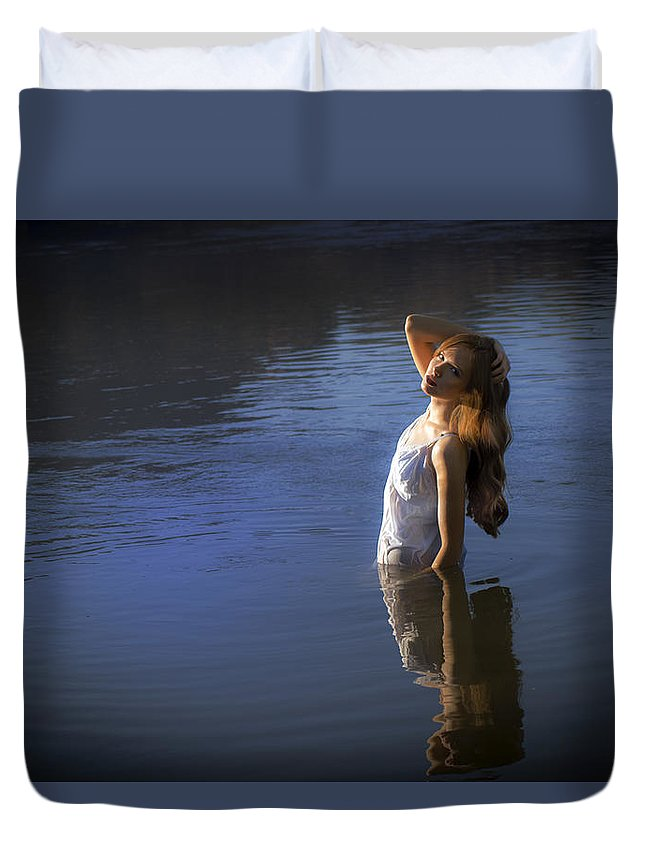 Mermaid Duvet Cover featuring the photograph Lady Of The Lake by Isabel Menzel
