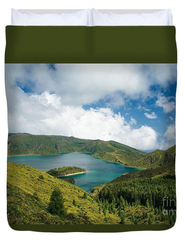 Lagoa Do Fogo Duvet Cover featuring the photograph Lagoa Do Fogo by Gaspar Avila
