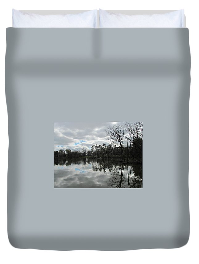 Lagoon Duvet Cover featuring the photograph Lagoon Reflections 4 by Anita Burgermeister