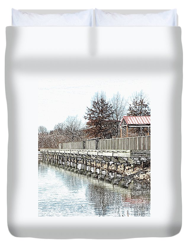 Lakes Duvet Cover featuring the photograph Lake by Amanda Barcon