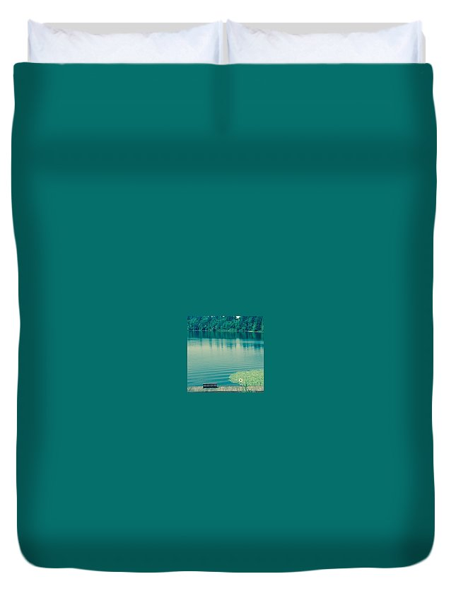 Lake Duvet Cover featuring the photograph Lake by Andrew Redford