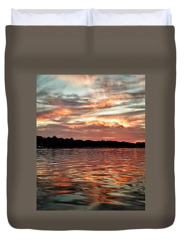 Lake Duvet Cover featuring the photograph Lake Beulah by Nikki Watson  McInnes