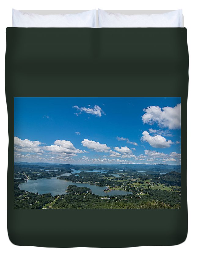 Lakes Duvet Cover featuring the photograph Lake Chatuge by Theron Clore