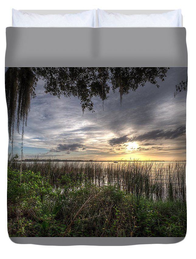 Lake Duvet Cover featuring the photograph Lake Dora by Ronald Kotinsky