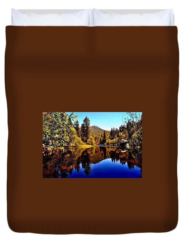 Nature Duvet Cover featuring the photograph Lake Fulmor - Idyllwild, Ca by Sherri Hasley