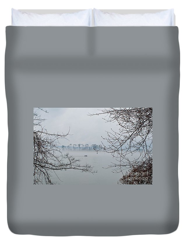 Fishing Duvet Cover featuring the photograph Lake Guntersville by Bernd Billmayer