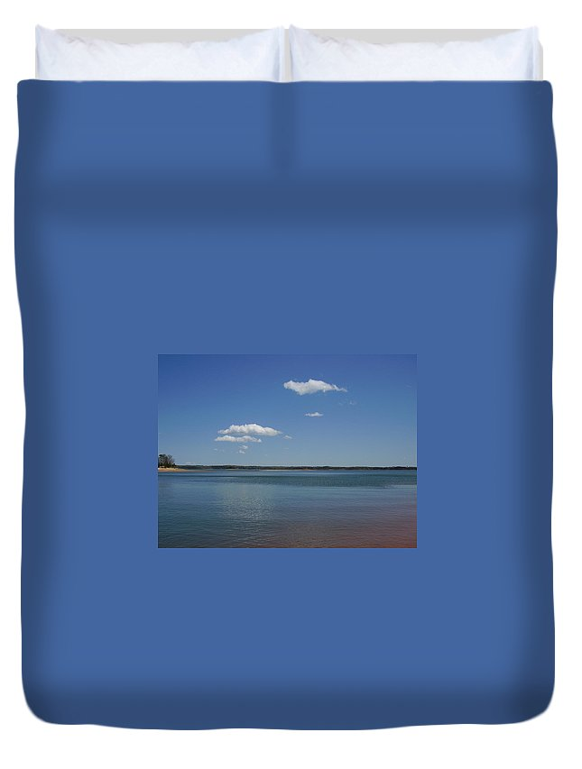 Lake Hartwell Duvet Cover featuring the photograph Lake Hartwell by Flavia Westerwelle