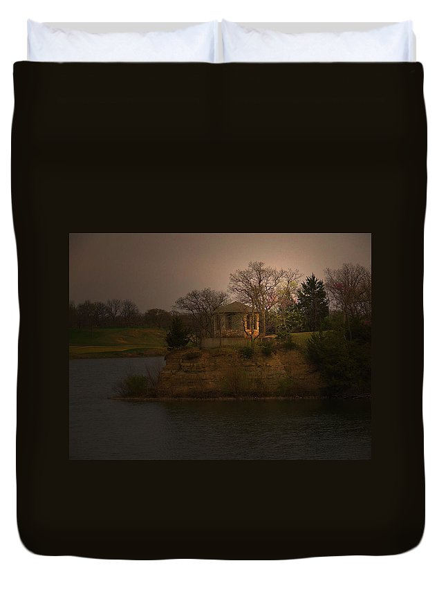 Lake Duvet Cover featuring the photograph Lake House by William Moore